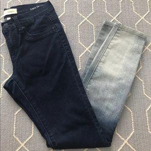 Henry & Belle Ombre Super Skinny Ankle Jeans SZ 24